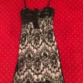 rochie de seara Escada originala, matase cu dantela, marime 40-42