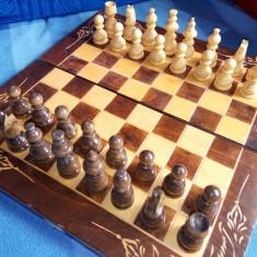 Joc SAH +Table, din lemn de mari dimensiuni - Set sah