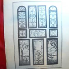 Litografie- Arta Decorativa -Autor W.Mewes- cca.1900 - Ed.Germania, 50x36 cm