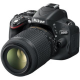 Nikon DSLR  D5100+ Obiectiv 55-200mm+2 carduri memorie+2 acumulatori+incarcator