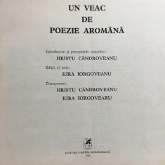 UN VEAC DE POEZIE AROMANA - Hristu Candroveanu - Carte Editie princeps
