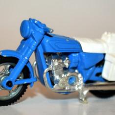 Macheta metalica motocicleta Majorette - albastra