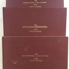 THE HOMEOPATHIC PHARMACOPOEIA OF THE UNITED STATES (3 volume homeopatie) - Carte Medicina alternativa