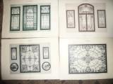 Set 7 Litografii Art Nouveau Vitralii cca.1900 -autor R.Weise Ed. Max Spielmeyer
