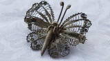 Brosa argint FLUTURE filigran VIENEZA 1900 MARE superba SPLENDIDA de Efect