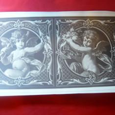 Litografie- Arta Decorativa- Ingerasi - cca.1900 - dim. 25x 46 cm - Ed. Germania