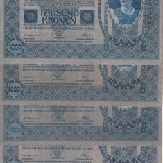 BANCNOTE GERMANIA, LOT 5 BUC., 1000 MARCI EMISE 2 IANUARIE 1902, XF + - bancnota europa