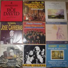 Vinil muzica clasica 6 J Carreras, Ruha, Arnautu, Domingo, Solistii operei Timisoara