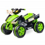 Vehicul Electric Raptor 2 x 6 V Green - Masinuta electrica copii