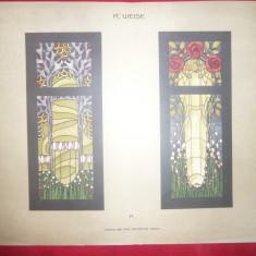 Litografie- Arta Decorativa -Autor R.Weise- cca.1900 - Ed.Germania, 50x36 cm