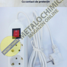 Albach prelungitor electric produs in Romania 3 prize 3 metri cu intrerupator - Cablu si prelungitor