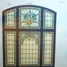 Litografie- Arta Decorativa- Vitralii- cca.1900 - dim. 28x 36 cm - Ed. Germania