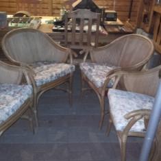 Set mobilier de terasa din ratan confortabile si f.stabile