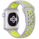 Curea pentru Apple Watch 38 mm Silicon iUni Argintiu-Galben