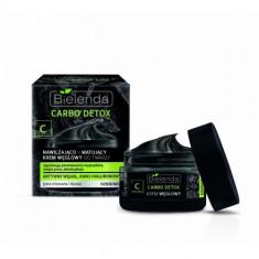 CARBO DETOX Crema de fata hidratanta si matifianta cu Carbune zi/noapte 50 ml, Bielenda