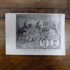 Inmormantarea fratilor Draga in noaptea de 28 mai 1903, carte postala - Harta Europei