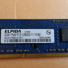 Memorie Laptop Elpida Sodimm DDR3 2 GB 1600 Mhz PC3-12800 MHz - Memorie RAM laptop