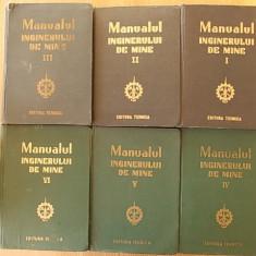 MANUALUL INGINERULUI DE MINE, VOL. I, II, III, IV, V, VI, - Carti Constructii