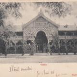 LACUL SARAT . CASINO, SALA DE BAL, CARL FELD BRAILA CIRCULATA 1906 - Carte Postala Muntenia 1904-1918, Printata