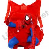 Rucsac cu papusa detasabila Spiderman pentru copii