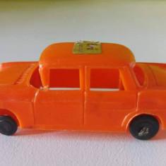 Masina masinuta Opel Kapitan Weste Germany, 6 cm, plastic, portocalie, vintage