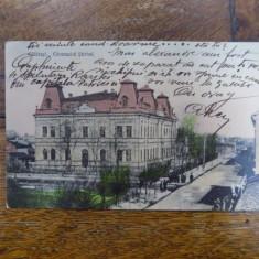 Calarasi, Gimnaziul Stirbei, carte postala ilustrata - Harta Europei