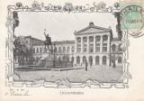 BUCURESTI ,  UNIVERSITATEA    , CLASICA  , TCV , CIRCULATA 1904, Printata