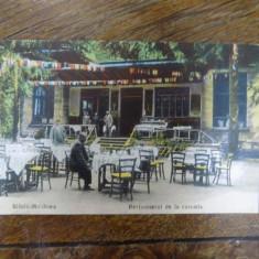 Slanic Moldova, Restaurant de la cascada, carte postala ilustrata - Harta Europei