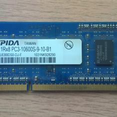 Memorie RAM 1GB DDR3-1333 MHz Elpida SODIMM laptop - Memorie RAM laptop