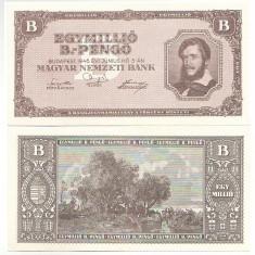 Ungaria 1946 - 1 milion B-pengo UNC - bancnota europa