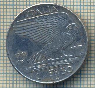 10392 MONEDA - ITALIA -50 CENTESIMI-anul 1941 XIX-MAGNETIC-starea care se vede
