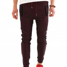 Pantaloni de trening tip ZARA - grena - COLECTIE NOUA - 7993 - Pantaloni barbati, Marime: S, M, L, XL, XXL, Culoare: Din imagine