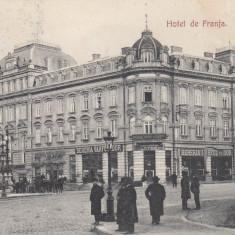 BUCURESTI, HOTEL DE FRANTA, BERARIA VARFUL CU DOR, TRASURI TRAMVAI CIRC.1907 - Carte Postala Muntenia 1904-1918, Circulata, Printata