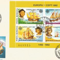 (No4) FDC ROMANIA -1992-L.P.1282- Europa CEPT '92