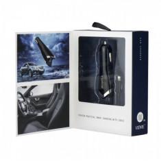 Incarcator Auto Iphone 5,5s,Iphone 6,6 Plus,7,7 Plus-Vidvie Dual USB Negru