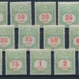Luxemburg 1922 - Porto, serie nestampilata, cu sarniere