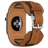 Curea pentru Apple Watch 38 mm piele iUni Cuff Maro