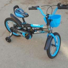 Bicicleta pentru copii 3-6 ani - Carucior Gemeni, Albastru
