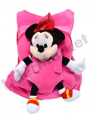 Rucsac cu papusa detasabila Minnie Mouse pentru copii foto