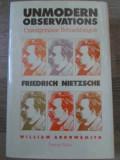 Unmodern Observations Friedrich Nietzsche - William Arrowsmith ,394827