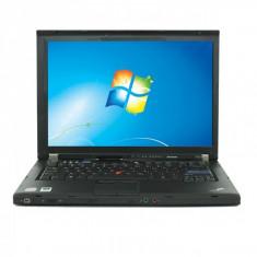 Laptop LENOVO ThinkPad T400, Intel Core 2 Duo P8600 2.4 GHz, 2GB DDR3, 80GB SATA, DVD-RW, GRAD B, Fara Baterie, Diagonala ecran: 14