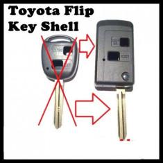 Carcasa Cheie Briceag Toyota 2 Butoane Pentru Transformat Lamela TOY43