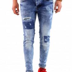 Blugi tip Zara fashion - blugi barbati blugi slimfit blugi conici 6361G5, Marime: 33, Culoare: Din imagine