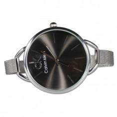 Ceas dama Calvin Klein, Silver-Black Edition, Quartz, Otel, Analog