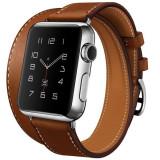 Curea pentru Apple Watch 38 mm piele iUni Double Tour Maro