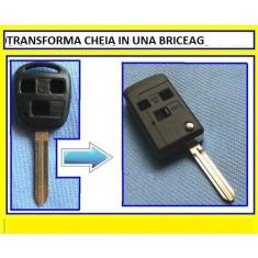 Carcasa Cheie Briceag Toyota 3 Butoane Pentru Transformat Lamela TOY43
