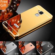 Husa / Bumper aluminiu + spate acril oglinda Huawei Honor 7 Lite / 5c - Bumper Telefon