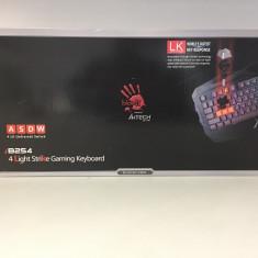 Tastatura Gaming A4Tech Bloody B254 - Tastatura PC A4tech, Cu fir, USB, Tastatura iluminata