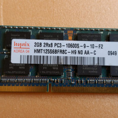 Memorie Laptop Hynix Sodimm DDR3 2 GB 1333 Mhz PC3-10600 MHz - Memorie RAM laptop