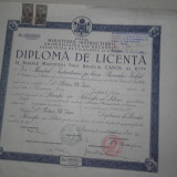 DIPLOMA DE LICENTA ,1939, FILOSOFIE SI LITERE/C.R.MOTRU SI C.KIRITESCU